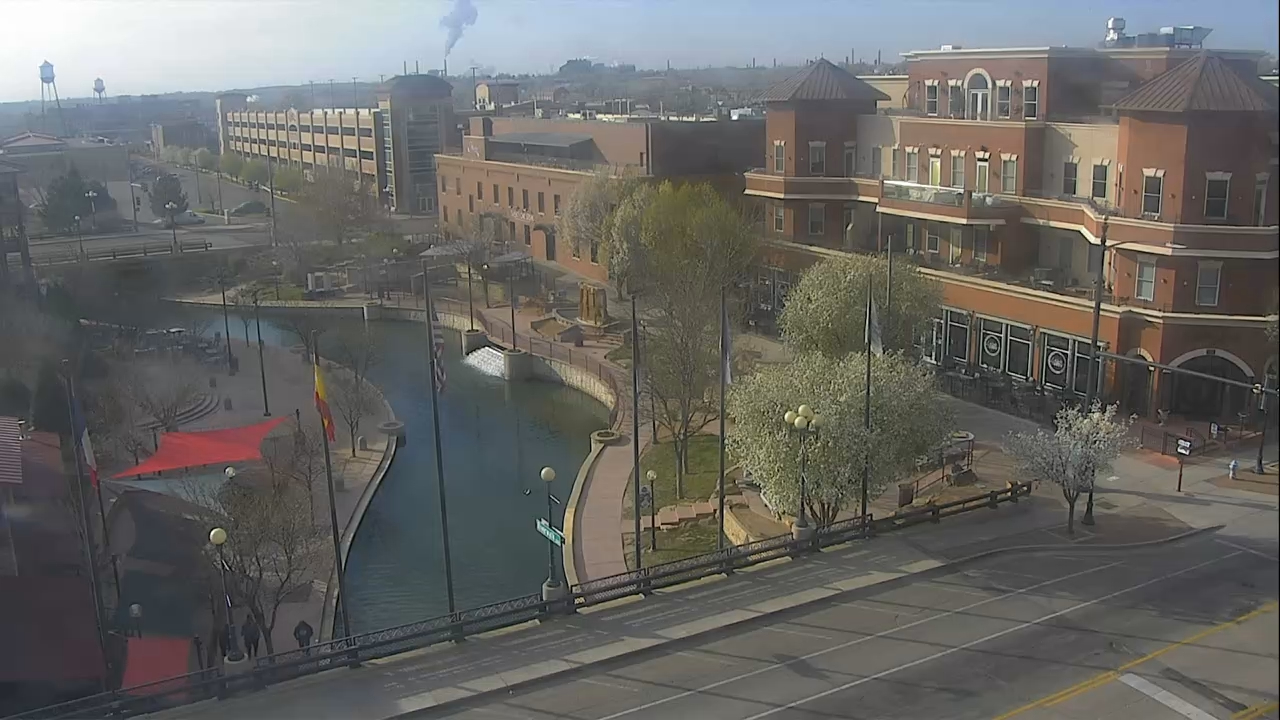 The Pueblo Riverwalk around 8:30 a.m. Wednesday.