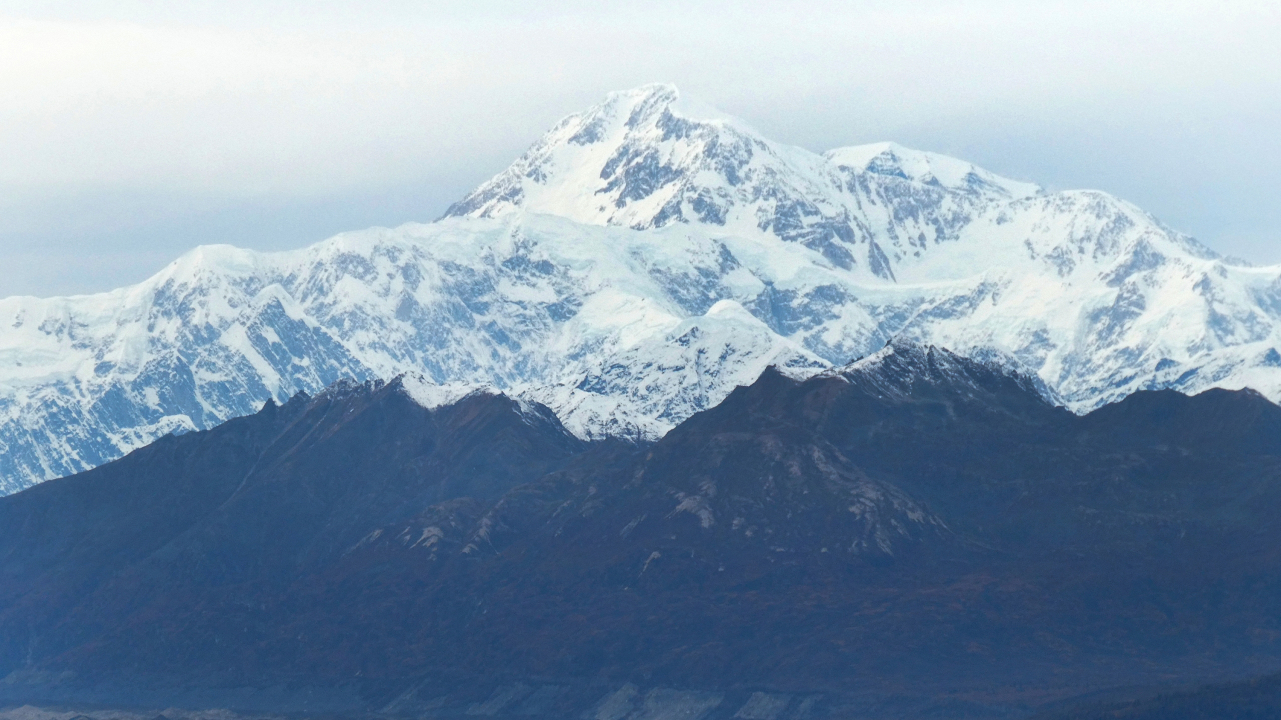 In this Oct. 1, 2017 photo, North America's tallest peak, Denali, is seen from a turnout in Denali State Park, Alaska. (AP Photo/Becky Bohrer)