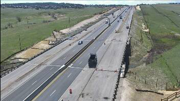 Interstate 25 just north of County Line Road around noon Wednesday. / Courtesy Colorado Department of Transportation