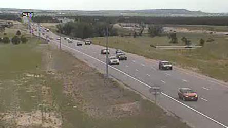 Northbound Interstate 25 just north of North Gate Boulevard around 1 p.m. Sunday / Courtesy Colorado Department of Transportation