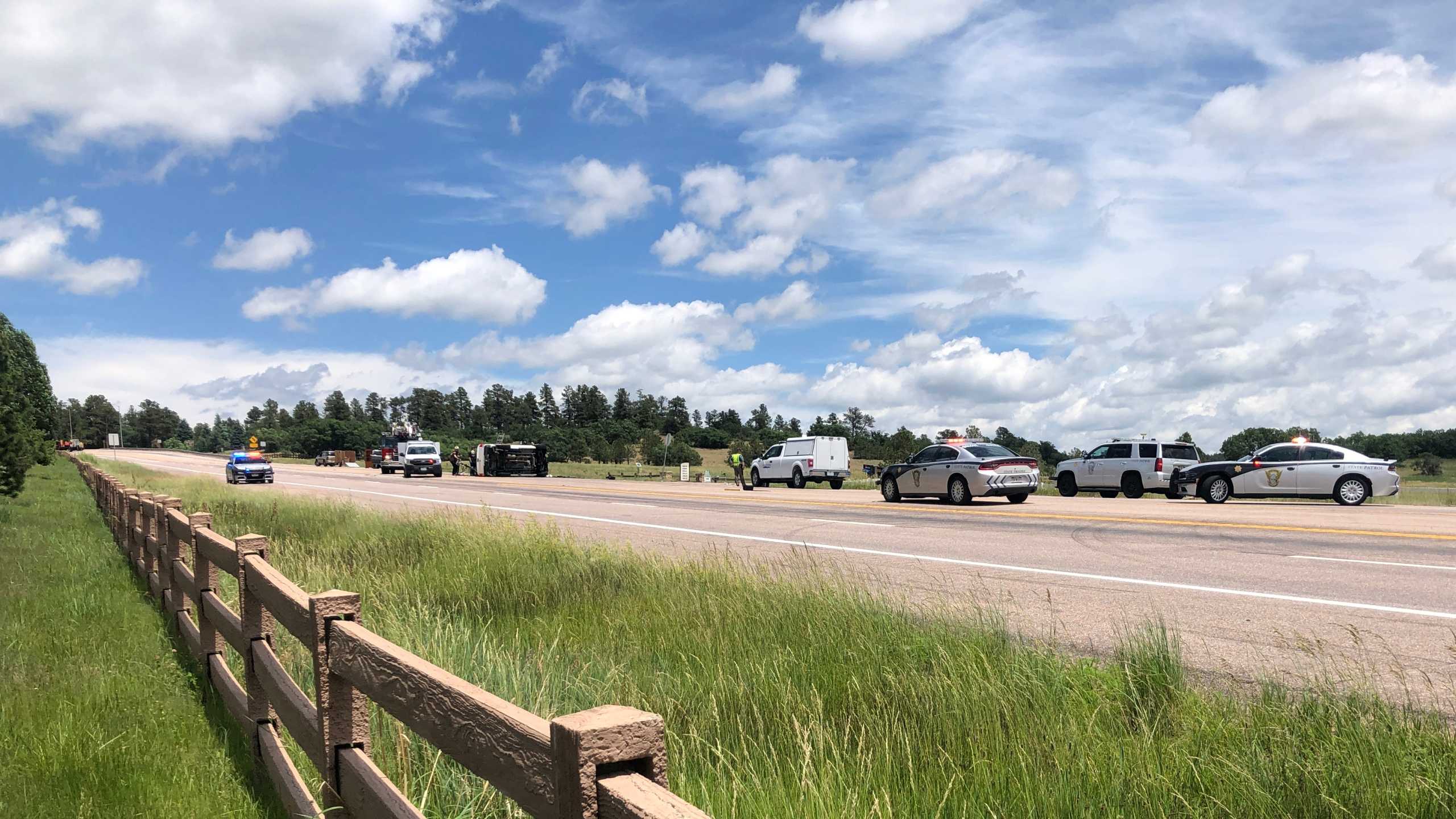 One person was killed in a three-vehicle crash on Highway 83 in northern Colorado Springs Tuesday morning. / Photo by Mike Duran - FOX21 News