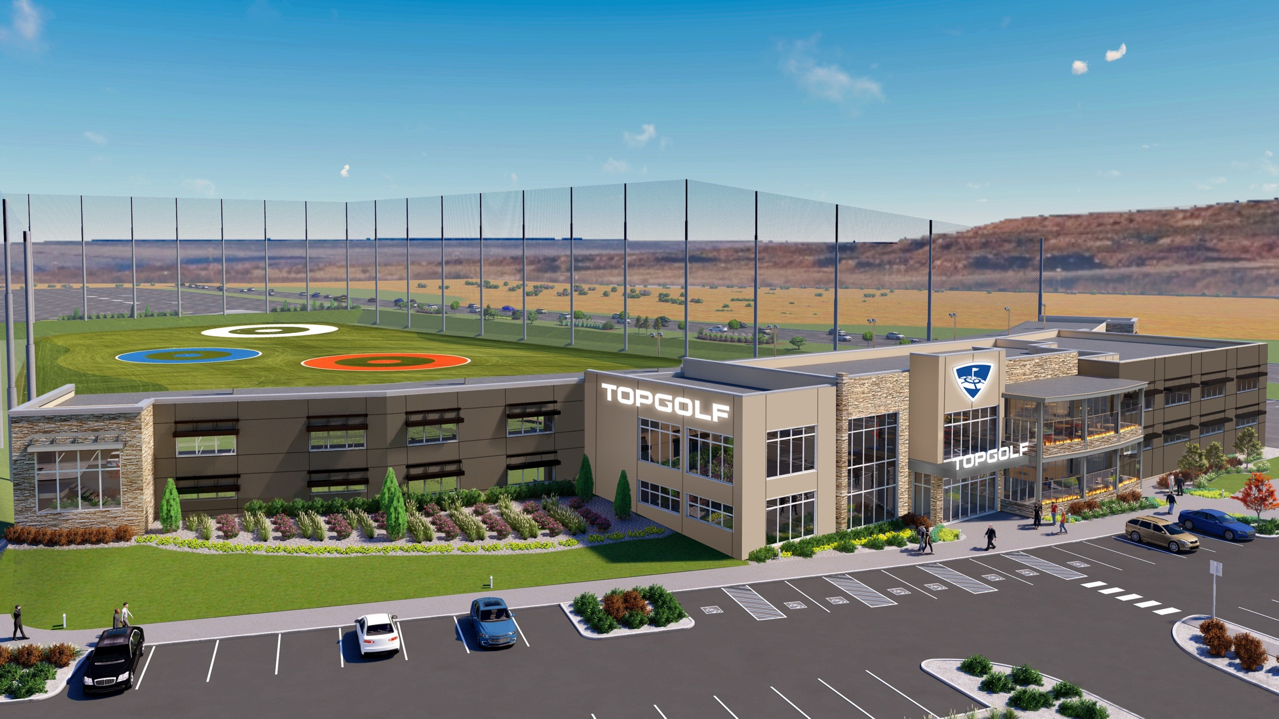 A rendering of the new Topgolf in northern Colorado Springs. / Courtesy Topgolf